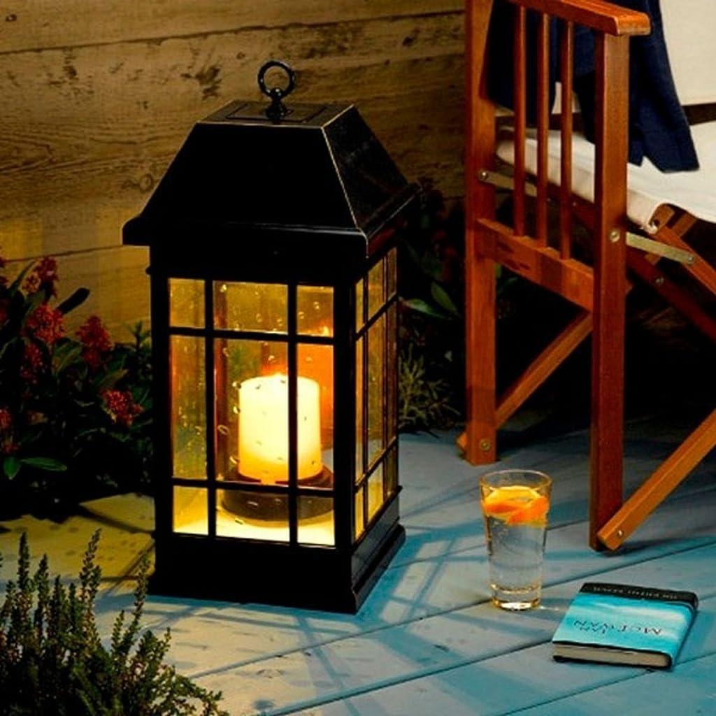 Smart Solar 3900KR1 San Rafael Mission Style Solar Lantern - Black