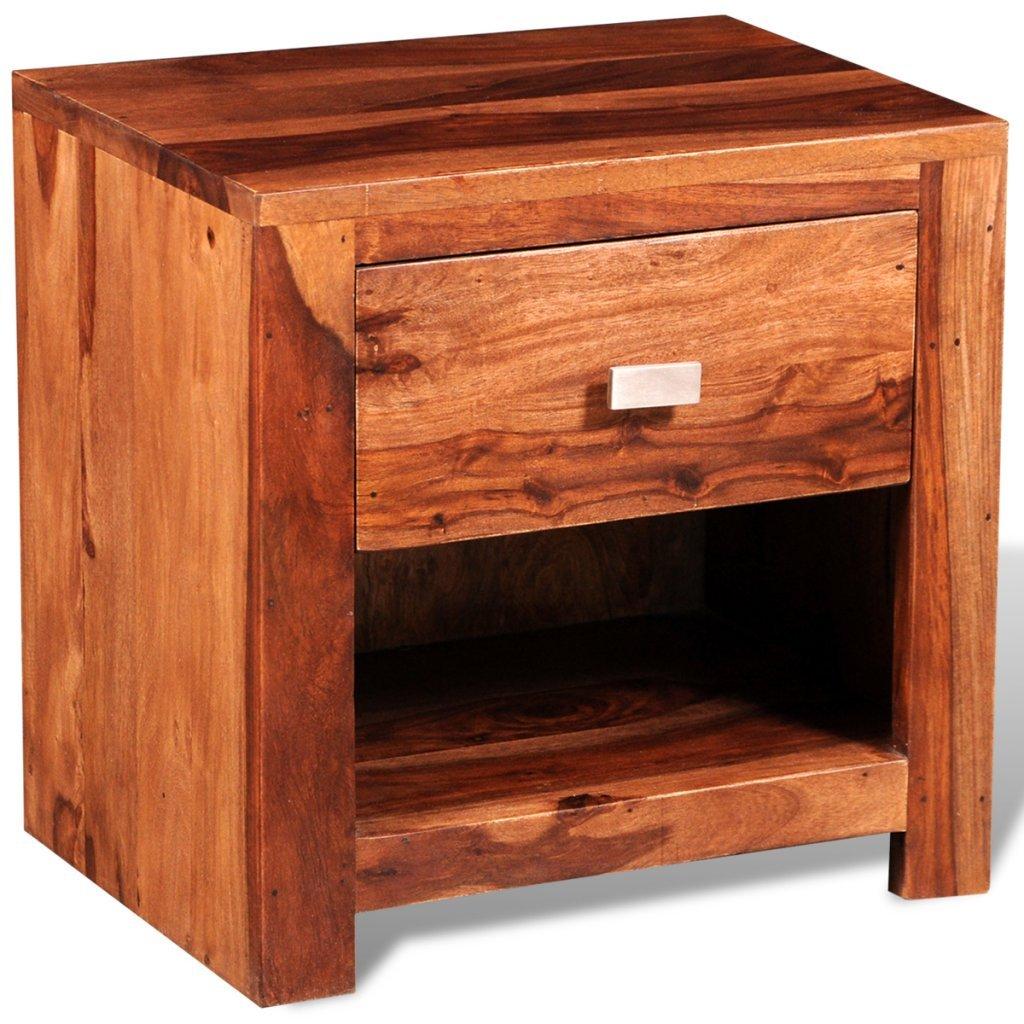 Anself 40 x 30 x 40cm Table de Niut Table de Chevet de Lit en Bois avec 1 Tiroir