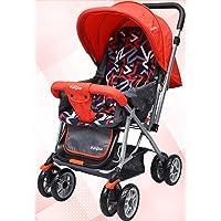 Little Pumpkin Kiddie Kingdom Baby Stroller and Pram for Baby/Kids (Red Black)