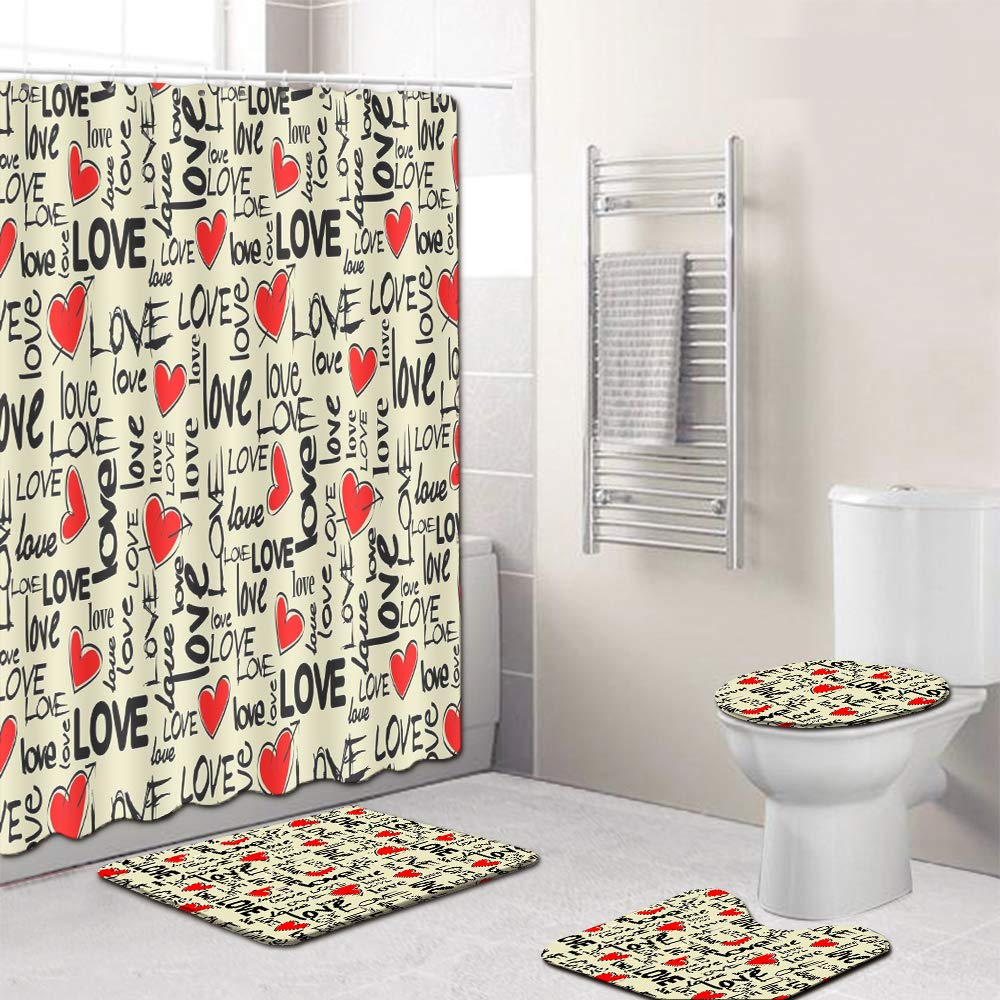 EMG fibra de poliéster cortina de baño Cuarto de baño ...