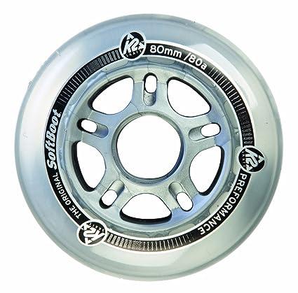 K2 80a - Juego de 4 ruedas para patines transparente transparente Talla:76 mm