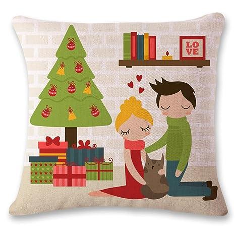 Vovotrade Fundas de Cojines de Navidad -Funda de almohada 45 ...