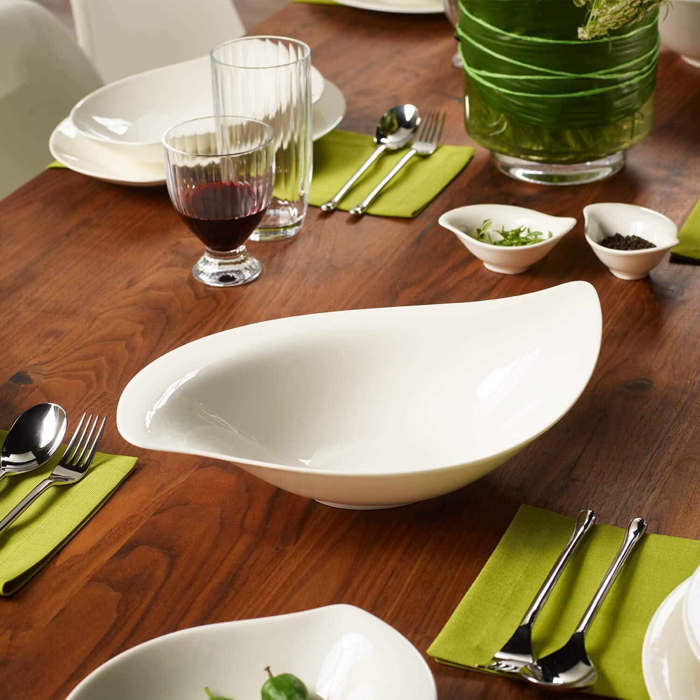 Villeroy /& Boch New Cottage Special Serve /& Salad Saladier 36x24 cm Blanc Porcelaine Premium