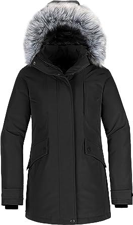 DondPO Parka Coat Winter Jacket Womens Warm Long Jacket With Hood and Teddy Fur