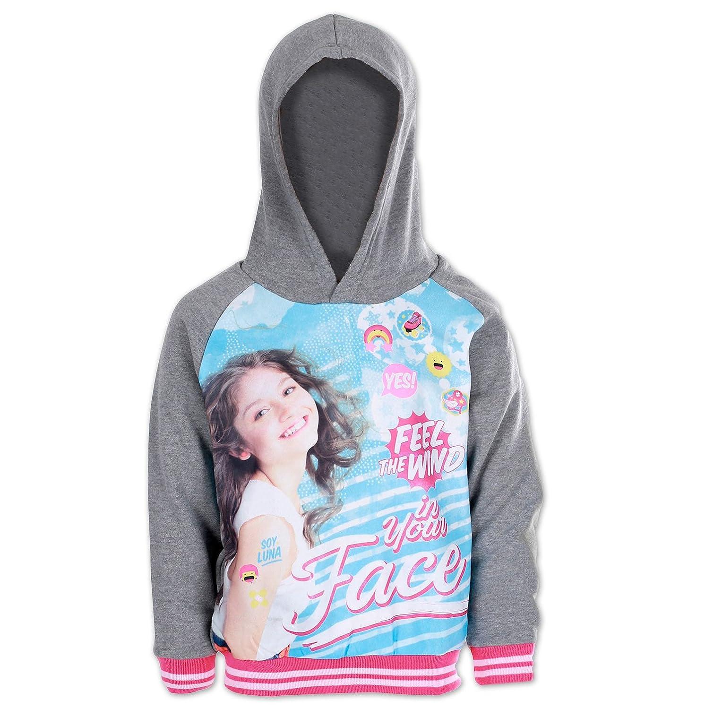 Soy Luna Disney Felpa con Cappuccio Face Prodotto Originale 649-099 Bambina