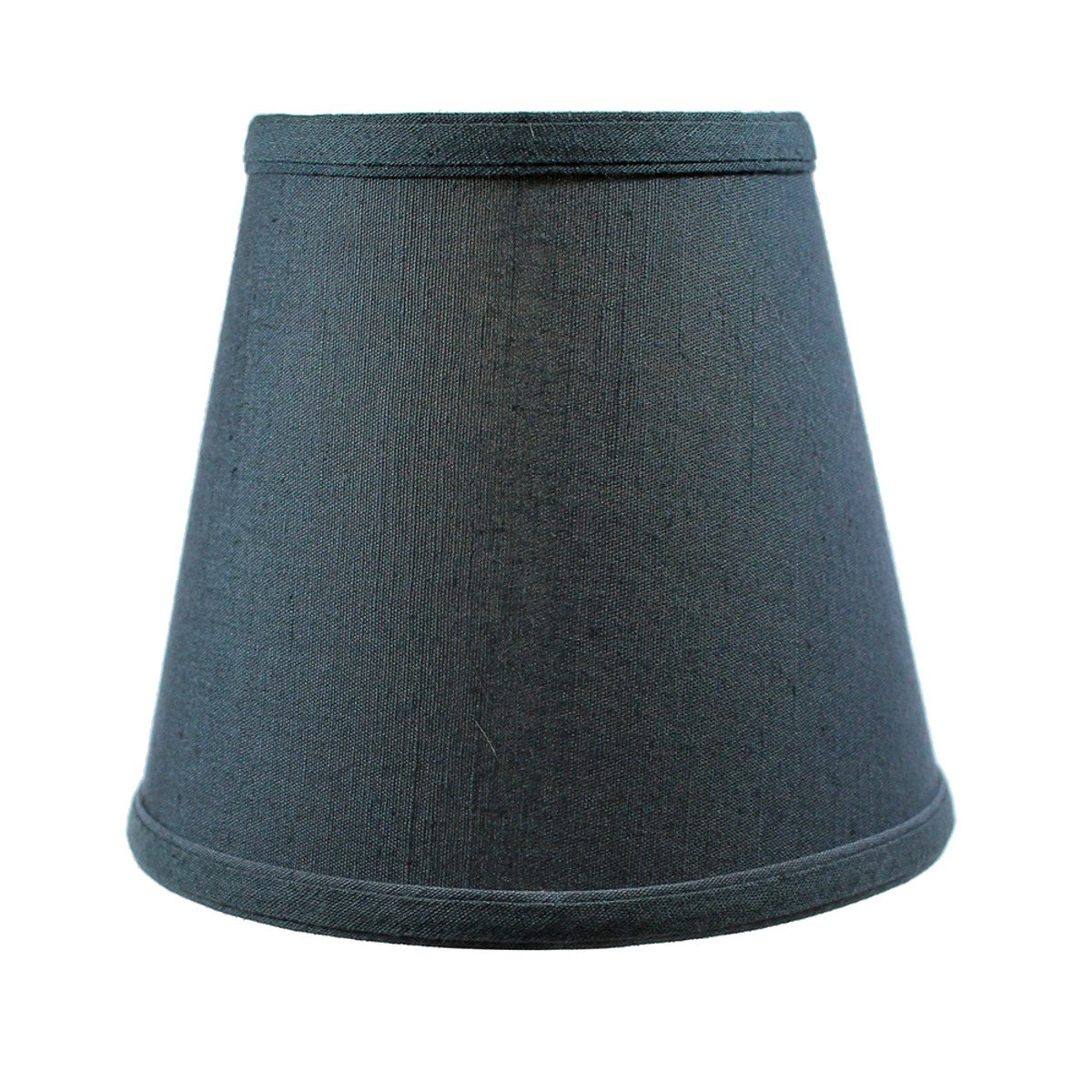 5x8x7 Textured Slate Blue Hard Back Lampshade Clip On Fitter by Home Concept - Perfect for Small Table Lamps, Desk Lamps, and Accent Lights -Small, Blue
