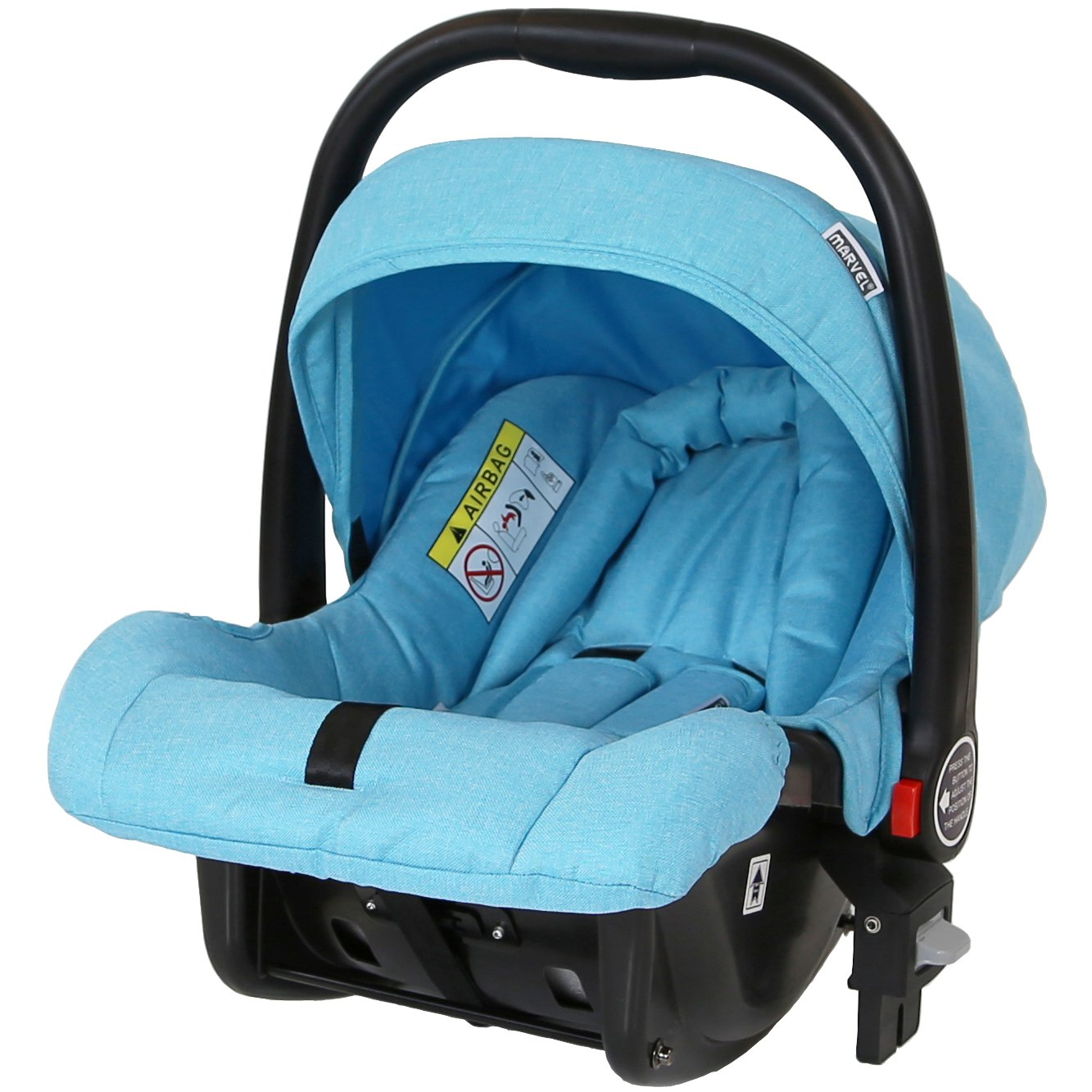 with Carrycot and Car Seat Marvel 3in1 Pram Surf Blue