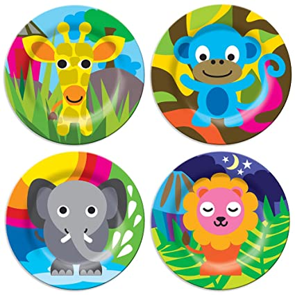 French Bull Kids Plate Set of 4 - BPA-Free Tray Animals  sc 1 st  Amazon.com & Amazon.com: French Bull Kids Plate Set of 4 - BPA-Free Tray ...