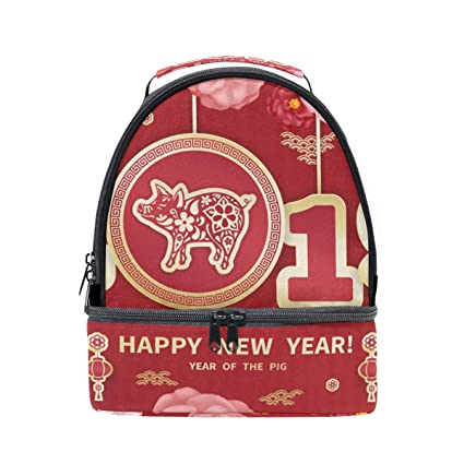 841d859729ce Amazon.com: Happy Chinese New Year 2019 Of The Pig Double Layer ...