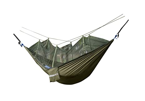 Camp Sleeping Gear Sports & Entertainment Popular Brand Camping Equipment Portable Parachute Fabric Camping Hammock Hanging Bed With Mosquito Net Sleeping Hammock Outdoor Hammock Carefully Selected Materials