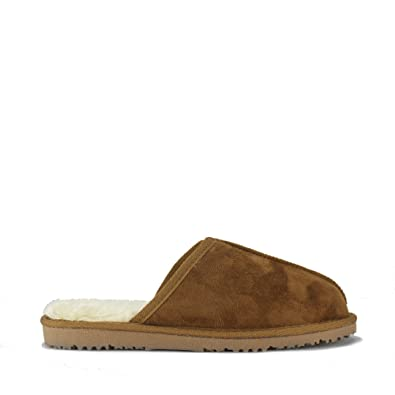 dc730a37bab21 Ella Shoes JACK Mens Mule Slippers Chestnut  Amazon.co.uk  Shoes   Bags