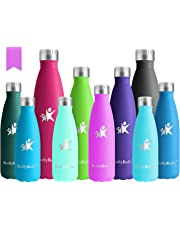 KollyKolla Metal Water Bottle Vacuum Insulated Water Bottles Hot & Cold Drinks Bottle Stainless Steel Thermo Flask Leakproof Kids for Sports Gym, Cycling, Football, Travel, 350ml/500ml/650ml/750ml