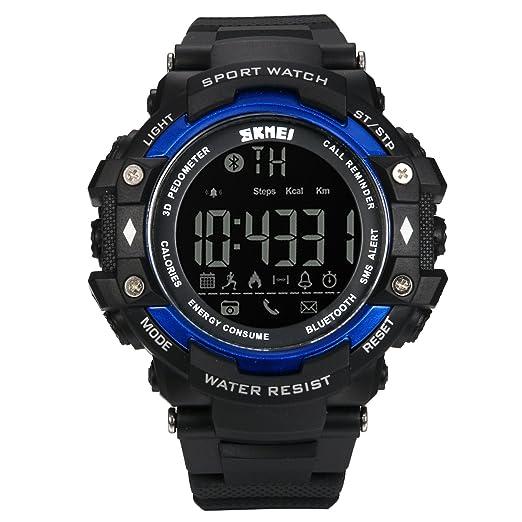 Lancardo Reloj Inteligente Smartwatch Monitor Saludable Podómetro Caloría Reloj Deportivo Impermeable de 50m Bluetooth Control Remoto para Android y ...