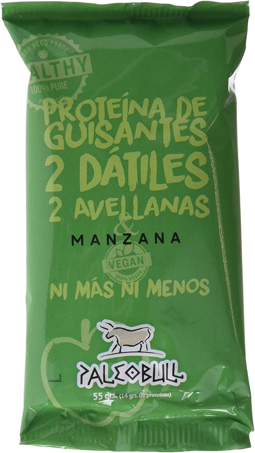 Barrita Energética Paleo 100% natural - Alta en proteínas - Manzana Vegana (55g)