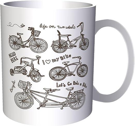 Bicicleta día bicis amantes novedad divertido 330 ml taza a462 ...