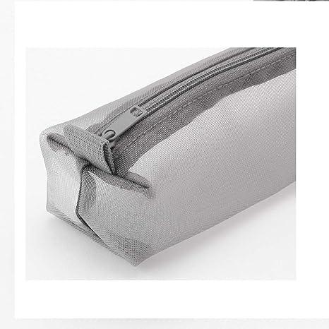 7x 2x 2 Muji Gray Nylon Mesh Pen CASE Square See Through Easily take Out pens Size