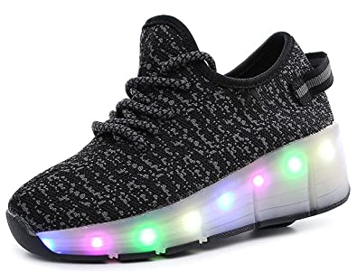 Zarachielly LED Light Up Shoes for Kids LED Lighting Shoes for Little Kid//Big Kid