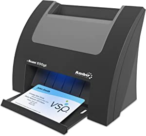 Ambir nScan 690gt High-Speed Vertical Card Scanner with AmbirScan Business Card