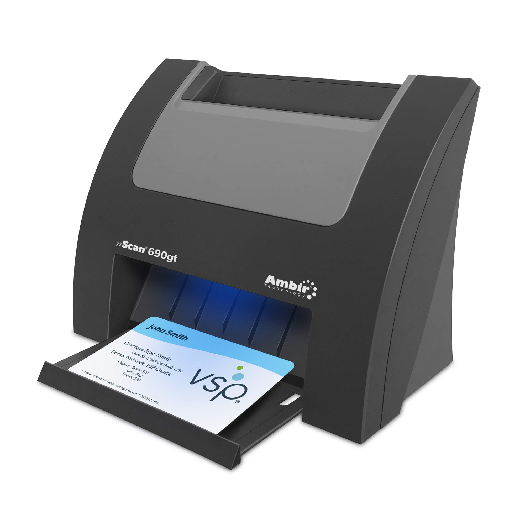 Ambir nScan 690gt High-Speed Vertical Card Scanner with AmbirScan Business Card Reader