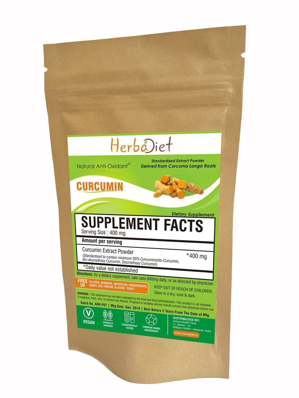 Turmeric Curcumin 95 Natural Curcumin Extract Powder Bulk Standardized Curcuminoids No Fillers Non GMO