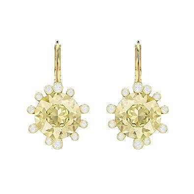 14ea79f2c Swarovski Olive Pierced Earrings, Multi-coloured, Gold plating:  Amazon.co.uk: Jewellery