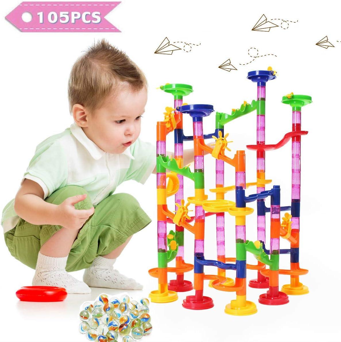Super Marble Run Race Childrens Construction Building Blocks Creative Toy 80 Pc