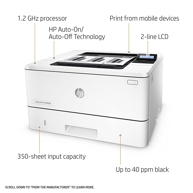 HP Laserjet Pro M402n - Impresora - Monocromo - Laser - A4 ...
