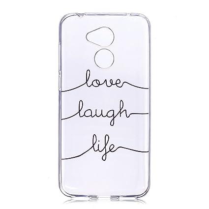 Funda para Huawei Honor 6A ,JIENI Transparente TPU Suave Silicona El significado del amor Parachoques