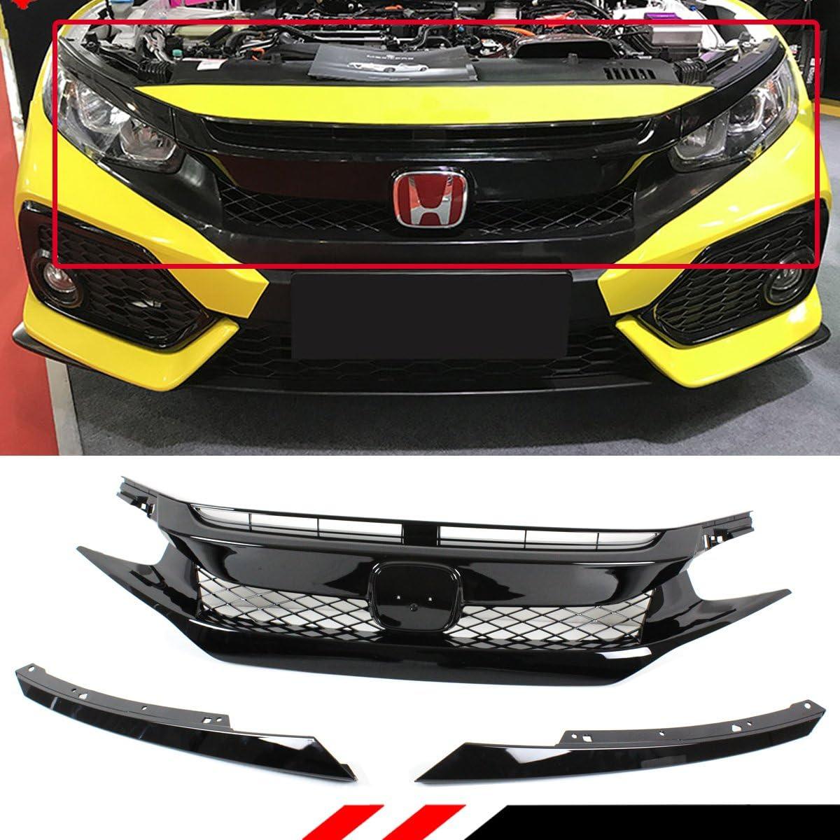 for 2016 2017 2018 2019 Honda Civic Sedan Grille Molding SI Model Black