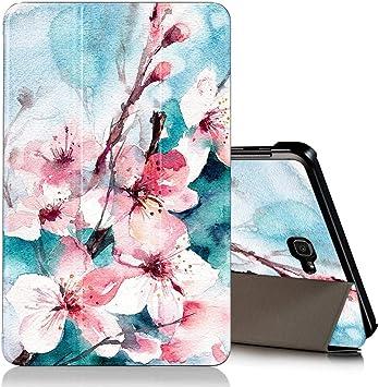 """Image of ZhuoFan Funda Samsung Galaxy Tab A 10.1 2019, Case Cuero PU Silicona Magnetica Función de Soporte y Auto-Desbloquear Cover Protector Piel Compatible con Samsung T515/T510 10.1"""", Flores 2"""