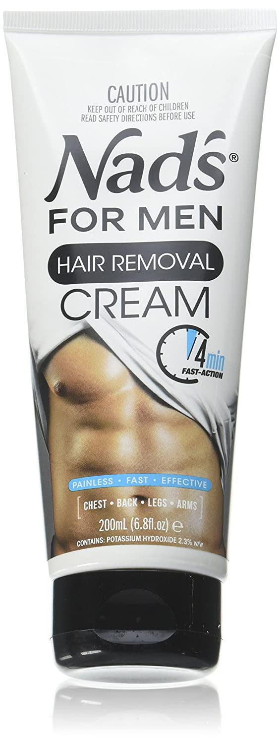 Nads Mens Hair Removal Cream 6.8 Ounce Tube (200ml) (2 Pack)