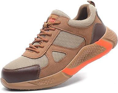 Dxyap Zapatos de Seguridad Hombre Mujer con Puntera de Acer, S1P Calzado de Industrial y Deportiva, Zapatillas de Seguridad Trabajo: Amazon.es: Zapatos y complementos