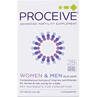 Proceive Advanced Fertility Vitamins Supplement | for Women and Men | Dual Pack | 120 Tablets