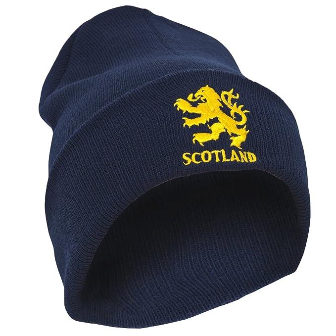 Scotland Gorro Beanie de Invierno Diseño del León Escocia Bordado ...