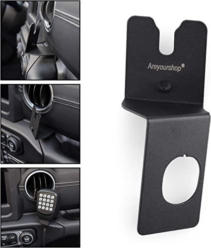 Artudatech 75WXST Car CB Raido Microphone Mounting Holder Clip For Jeep Wrangler JK 2011+