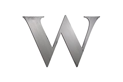 Amazon.com: Bold Letter W Wall Décor   Gunmetal: Home & Kitchen