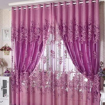 Amazon.com: Edal Romantic Modern Floral Peony Tulle Living Room ...