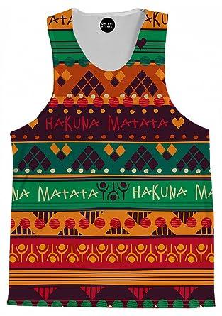 d346b0fc0ba58 On Cue Apparel Matata Hakuna Tank Top - Premium All Over Print Tanks - Small