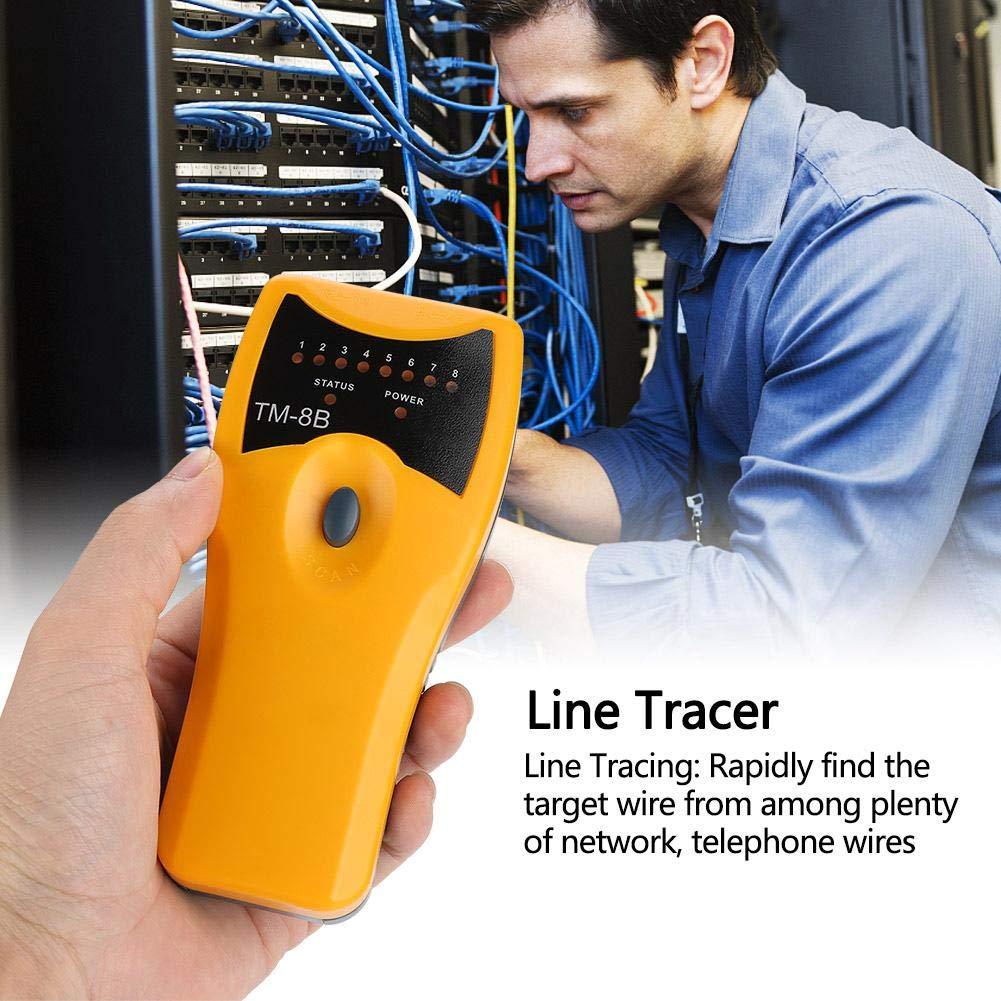 Linea Telefonica Finder Linee Telefoniche per Cavi Multifunzione Scansione Tracker Tester per Cavi di Rete TM-8B RJ45 RJ11
