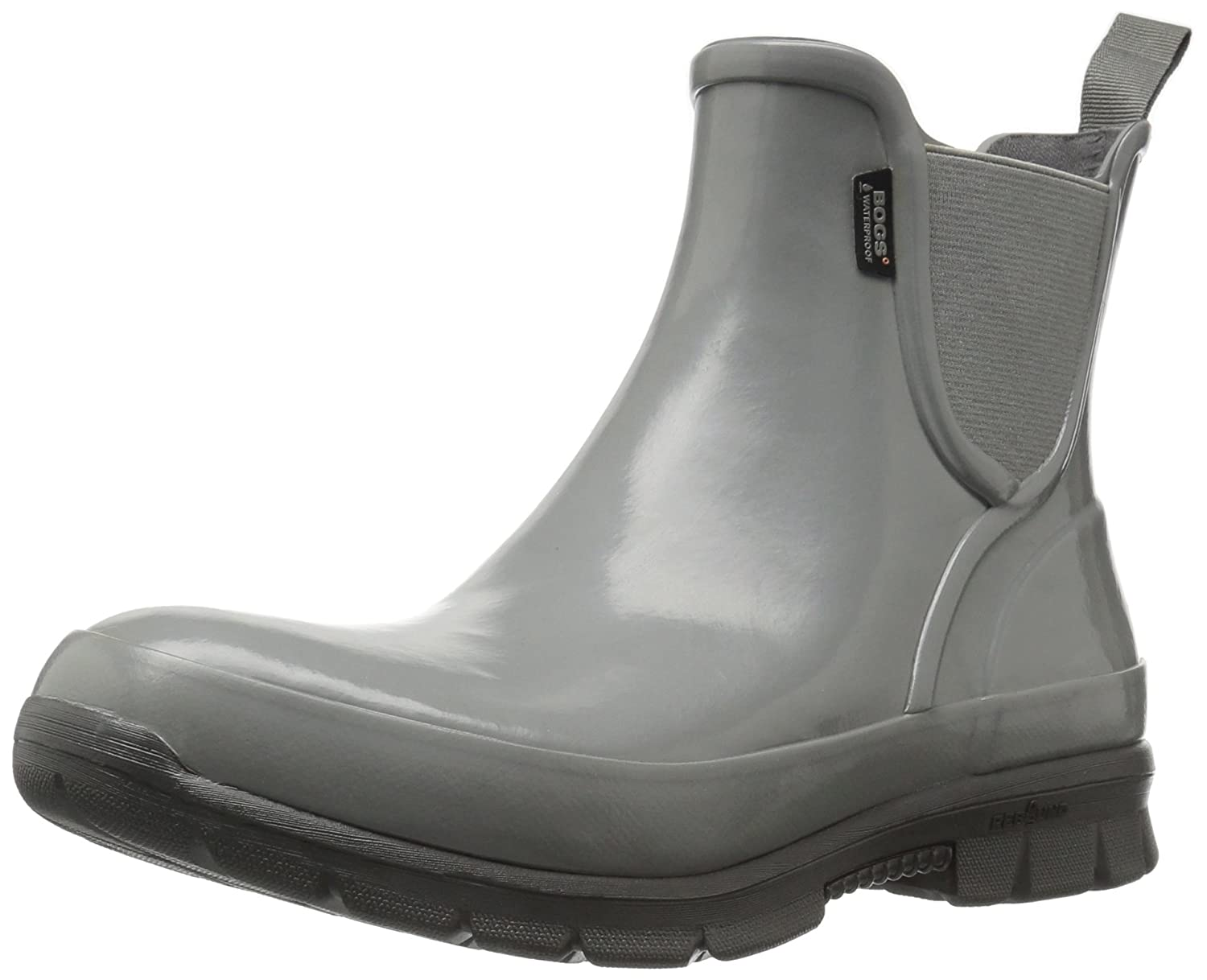 Bogs Women's Amanda Slip on Solid Rain Boot B01J6SQ3HU 7 B(M) US|Gray