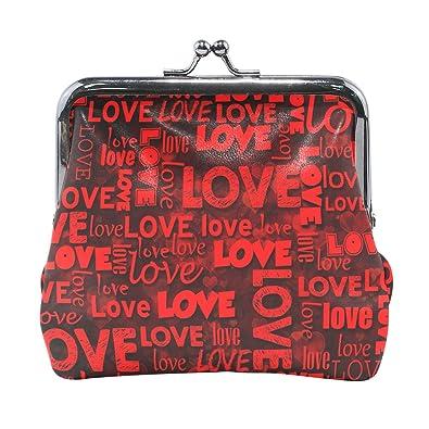 Amazon.com: Letra Love - Monedero de piel con cierre de ...