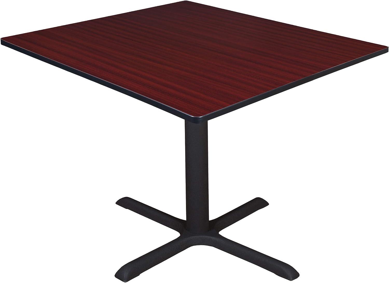 "Regency Cali Square Breakroom Table, 48"", Redwood"