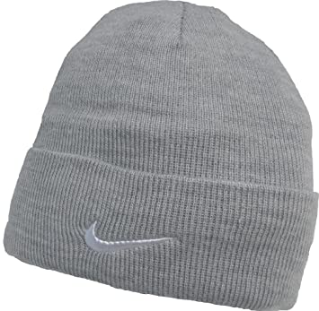 b6e98a64321 Adults Nike Fine Double Knit Warm Grey Beanie Hat 564453-052  Amazon.co.uk   Sports   Outdoors
