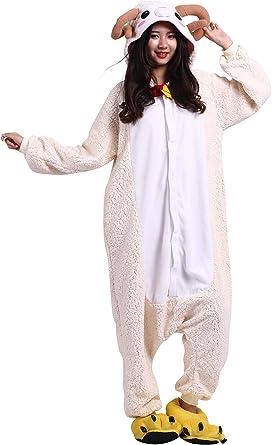 Pijama Animados Kigurumi Cosplay Nueva Cabra Animal para Adulto Unisex