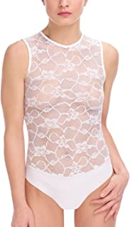 product image for commando Floral Lace Signature Bodysuit - BDS660 Medium White