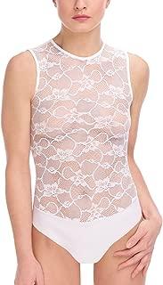 product image for commando Floral Lace Signature Bodysuit - BDS660 Medium White