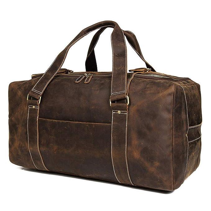 Amazon.com: MUMUWU Mens Travel Bag Large Leather Bag Large ...