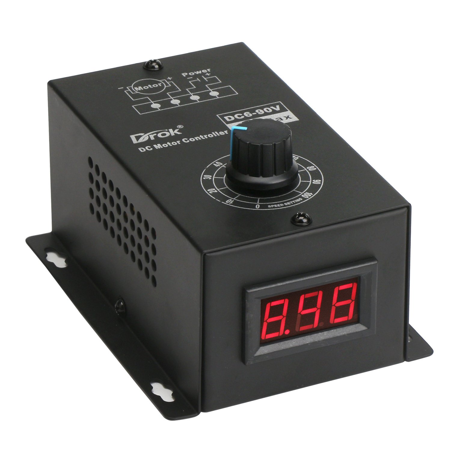 Best Rated In Electrical Motor Controls Helpful Customer Reviews 120vac To 12vdc Power Supply Using Voltage Regulator Lm7812ct Bridge Drok Dc 6 90v 15a Multistage Stepless Brushed Speed Controller Universal 001
