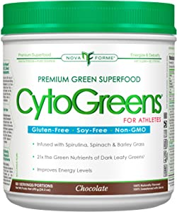 NovaForme CytoGreens, Premium Green Superfood for Athletes, Chocolate, 1.51 lbs (690 g)