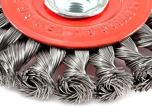 Radnor  4/'/' X M-10 x 1.25 Stainless Steel Standard Twist Knot Wire Wheel Brush